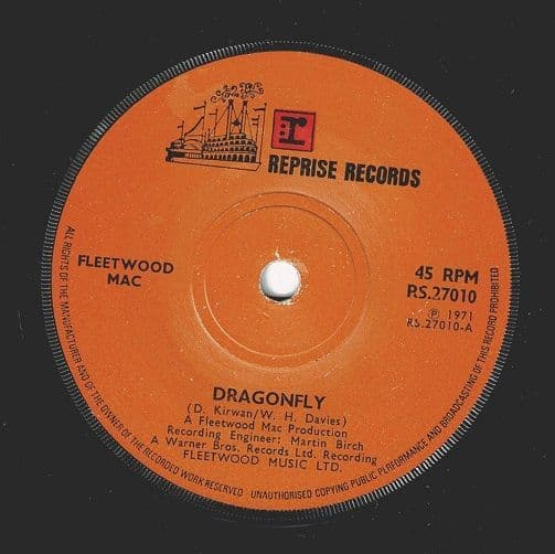 FLEETWOOD MAC Dragonfly Vinyl Record 7 Inch Reprise 1971