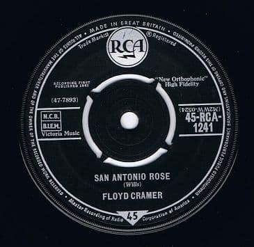 FLOYD CRAMER San Antonio Rose Vinyl Record 7 Inch RCA 1961