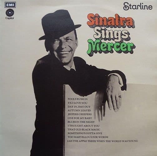 FRANK SINATRA Sinatra Sings Mercer LP Vinyl Record Album 33rpm Capitol 1963