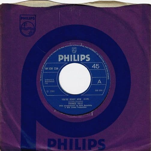 FRANKIE VALLI You're Ready Now Vinyl Record 7 Inch Philips 1970