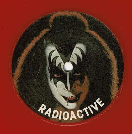 GENE SIMMONS Radioactive Vinyl Record 7 Inch Casablanca 1979 Red Vinyl