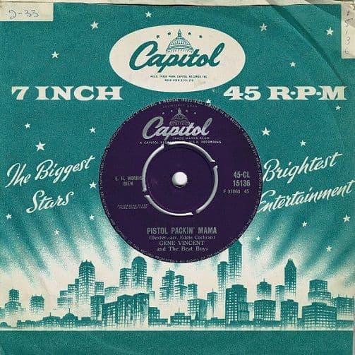 GENE VINCENT Pistol Packin' Mama Vinyl Record 7 Inch Capitol 1960