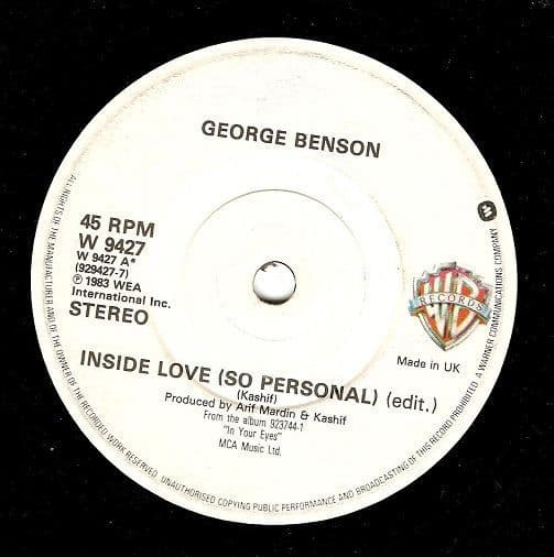 GEORGE BENSON Inside Love (So Personal) Vinyl Record 7 Inch Warner Bros. 1983