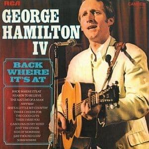 GEORGE HAMILTON IV Back Where It's At Vinyl Record LP Canadian RCA Camden 1973
