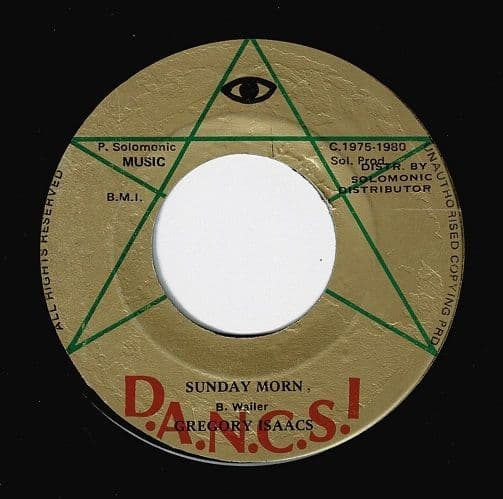GREGORY ISAACS Sunday Morn Vinyl Record 7 Inch Jamaican D.A.N.C.S! 1980