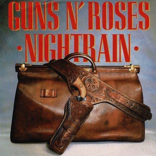 GUNS N' ROSES Nightrain Vinyl Record 7 Inch Geffen 1989.