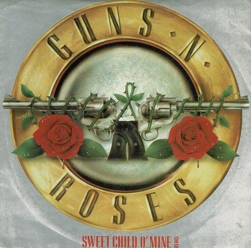 GUNS N' ROSES Sweet Child O' Mine Vinyl Record 7 Inch Geffen 1988