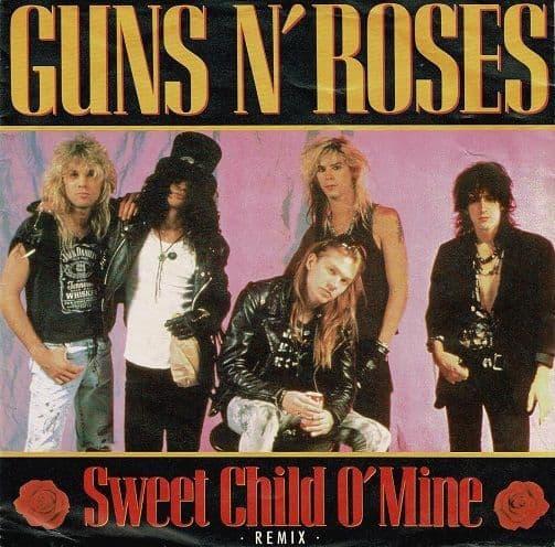 GUNS N' ROSES Sweet Child O' Mine Vinyl Record 7 Inch Geffen 1989