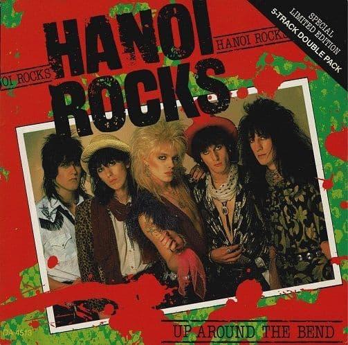 HANOI ROCKS Up Around The Bend Vinyl Record 7 Inch CBS 1984 Double Pack