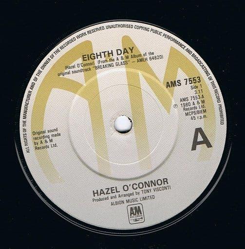 HAZEL O'CONNOR Eighth Day Vinyl Record 7 Inch A&M 1980
