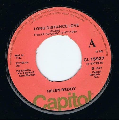 HELEN REDDY Long Distance Love Vinyl Record 7 Inch Capitol 1977