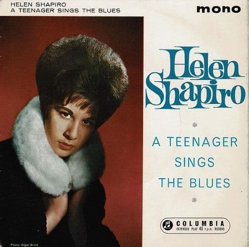 HELEN SHAPIRO A Teenager Sings The Blues EP Vinyl Record 7 Inch Columbia 1962 Signed