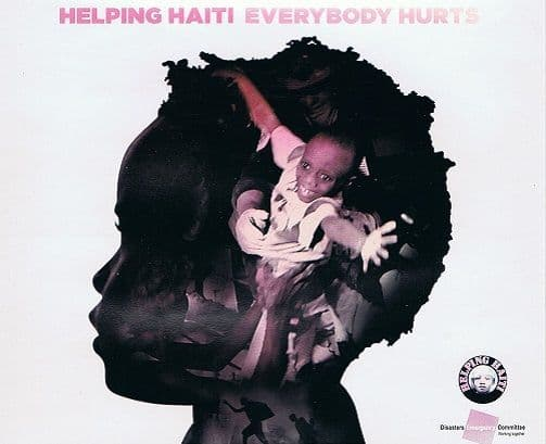 HELPING HAITI Everybody Hurts CD Single Sony 2010
