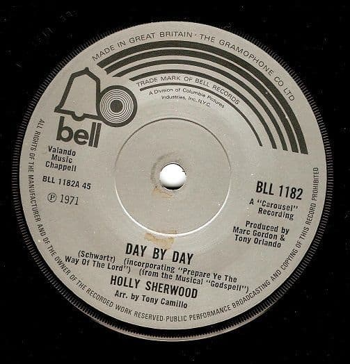 HOLLY SHERWOOD Day By Day Vinyl Record 7 Inch Bell 1971