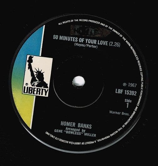 HOMER BANKS 60 Minutes Of Your Love Vinyl Record 7 Inch Liberty 1970