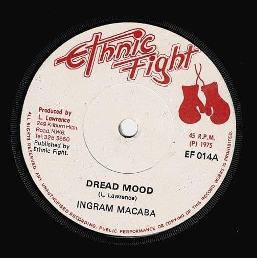 INGRAM MACABA Dread Mood Vinyl Record 7 Inch Ethnic Fight 1975