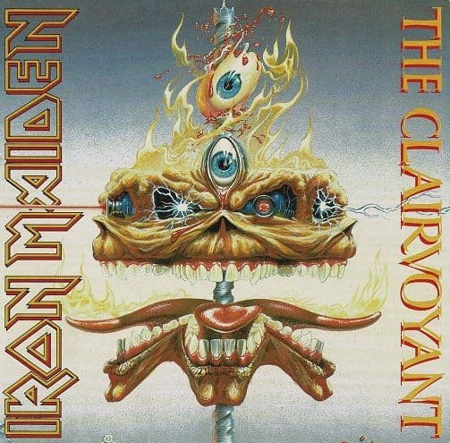 IRON MAIDEN The Clairvoyant Vinyl Record 7 Inch EMI 1988 Clear Vinyl