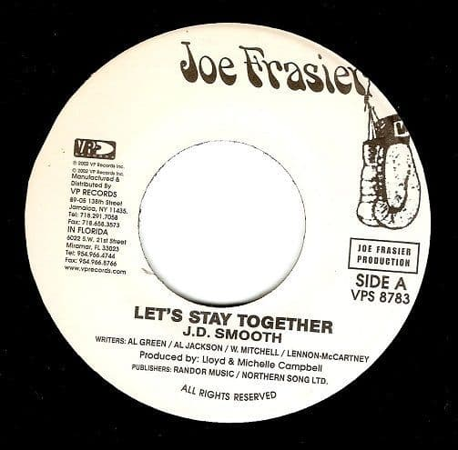 J. D. SMOOTH Let's Stay Together Vinyl Record 7 Inch US Joe Frasier 2002