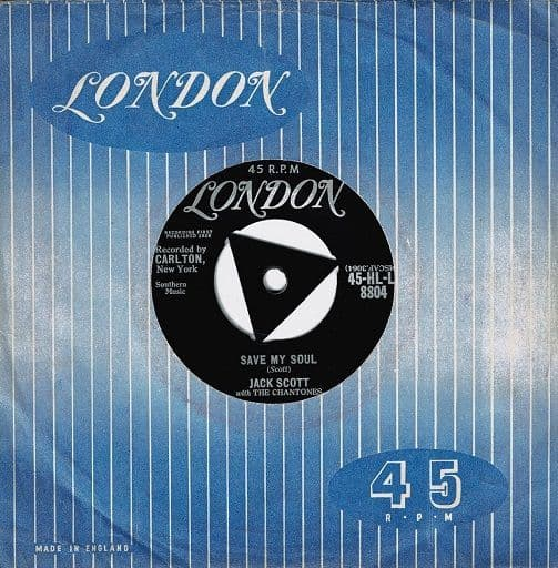 JACK SCOTT Save My Soul Vinyl Record 7 Inch London 1958