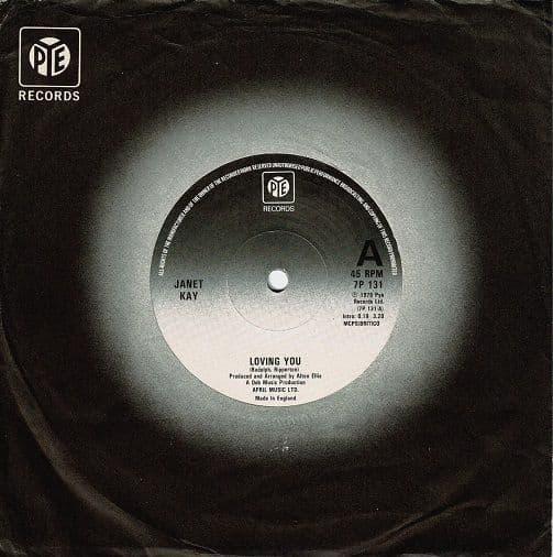 JANET KAY Loving You Vinyl Record 7 Inch Pye 1978