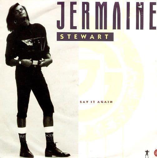 JERMAINE STEWART Say It Again Vinyl Record 7 Inch 10 1987
