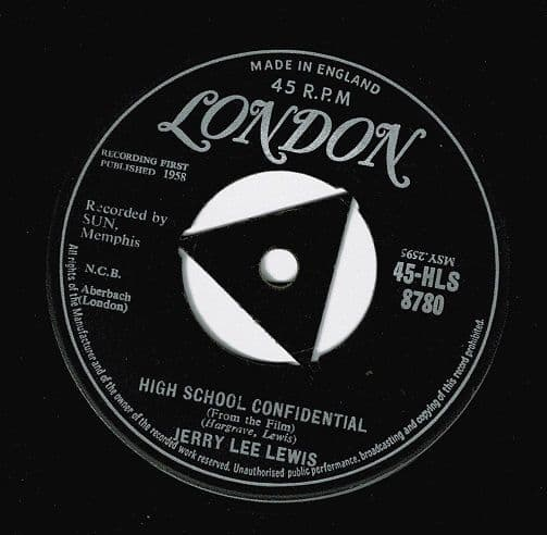 JERRY LEE LEWIS High School Confidential Vinyl Record 7 Inch London 1958
