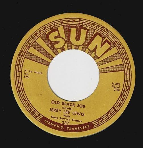 JERRY LEE LEWIS Old Black Joe Vinyl Record 7 Inch US Sun 1960