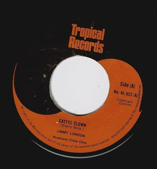 JIMMY LONDON Cathy's Clown Vinyl Record 7 Inch Tropical 1974
