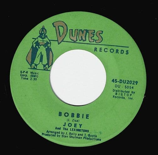 JOEY AND THE LEXINGTONS Bobbie Vinyl Record 7 Inch US Dunes.