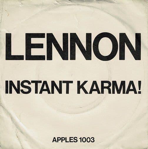 JOHN LENNON AND YOKO ONO Instant Karma Vinyl Record 7 Inch Apple 1970