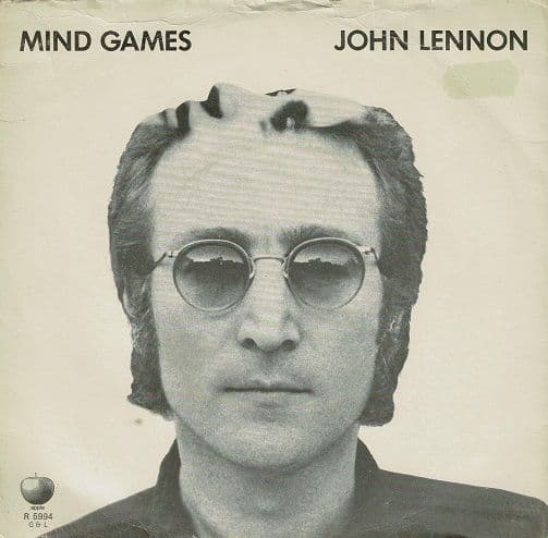 JOHN LENNON Mind Games Vinyl Record 7 Inch Apple 1973