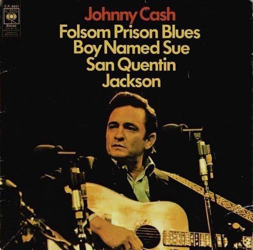 JOHNNY CASH Folsom Prison Blues EP Vinyl Record 7 Inch CBS 1969