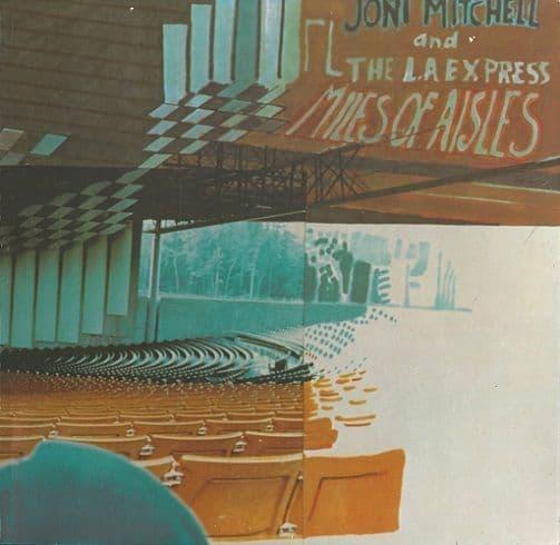 JONI MITCHELL Miles Of Aisles Vinyl Record LP Asylum 1974