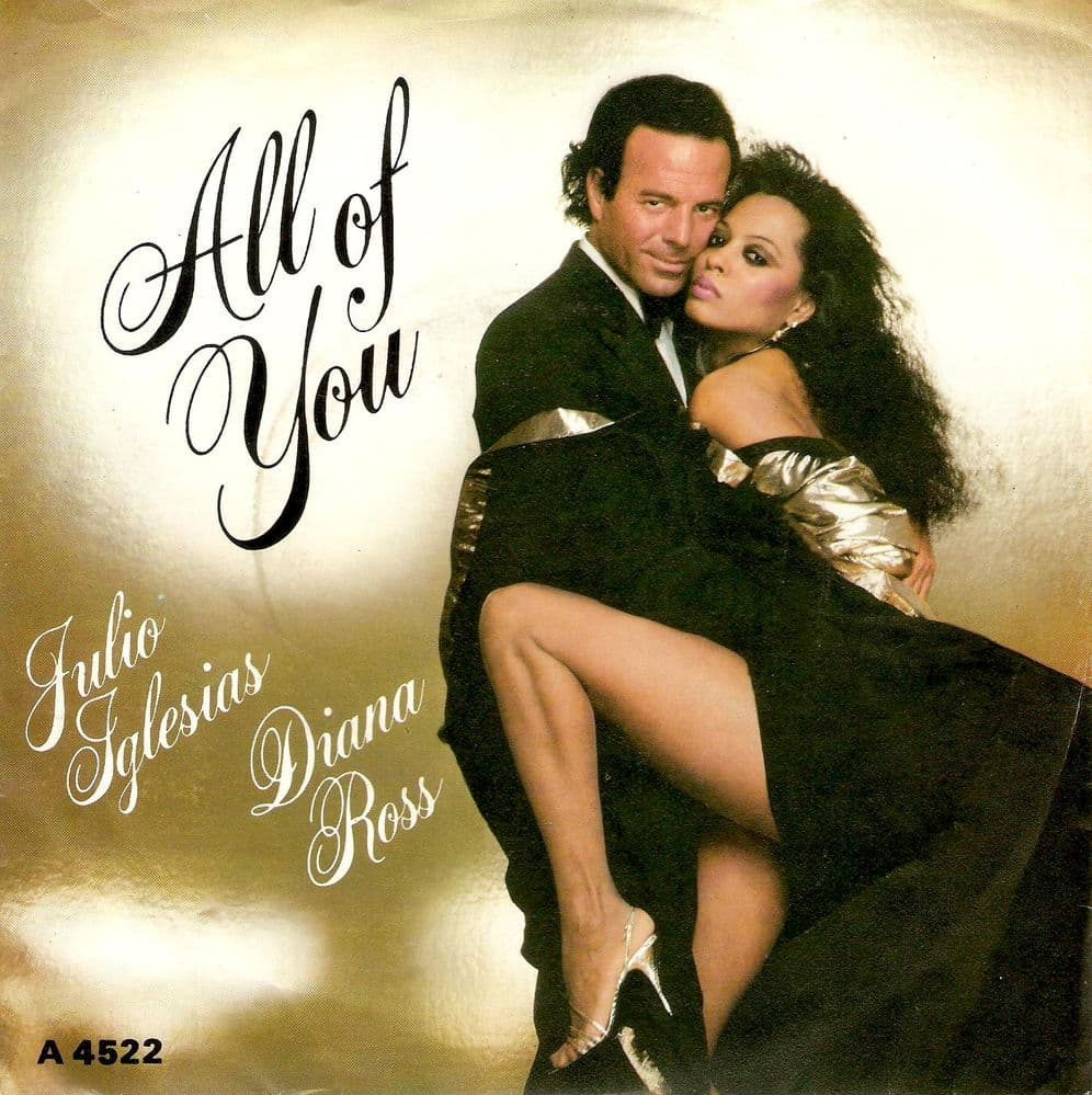 JULIO IGLESIAS AND DIANA ROSS All Of You Vinyl Record 7 Inch CBS 1984
