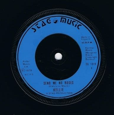 "KELLIE Send Me No Roses 7"" Single Vinyl Record 45rpm Stag Music 1976"