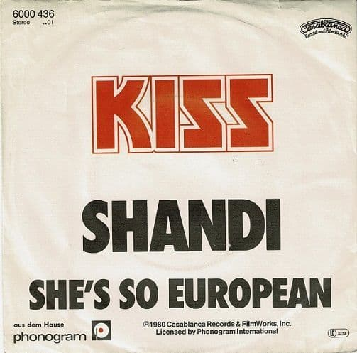 KISS Shandi Vinyl Record 7 Inch German Casablanca 1980