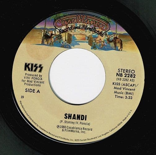 KISS Shandi Vinyl Record 7 Inch US Casablanca 1980