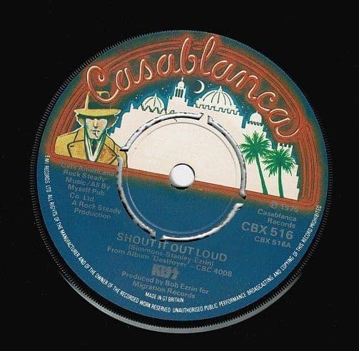 KISS Shout It Out Loud Vinyl Record 7 Inch Casablanca 1976