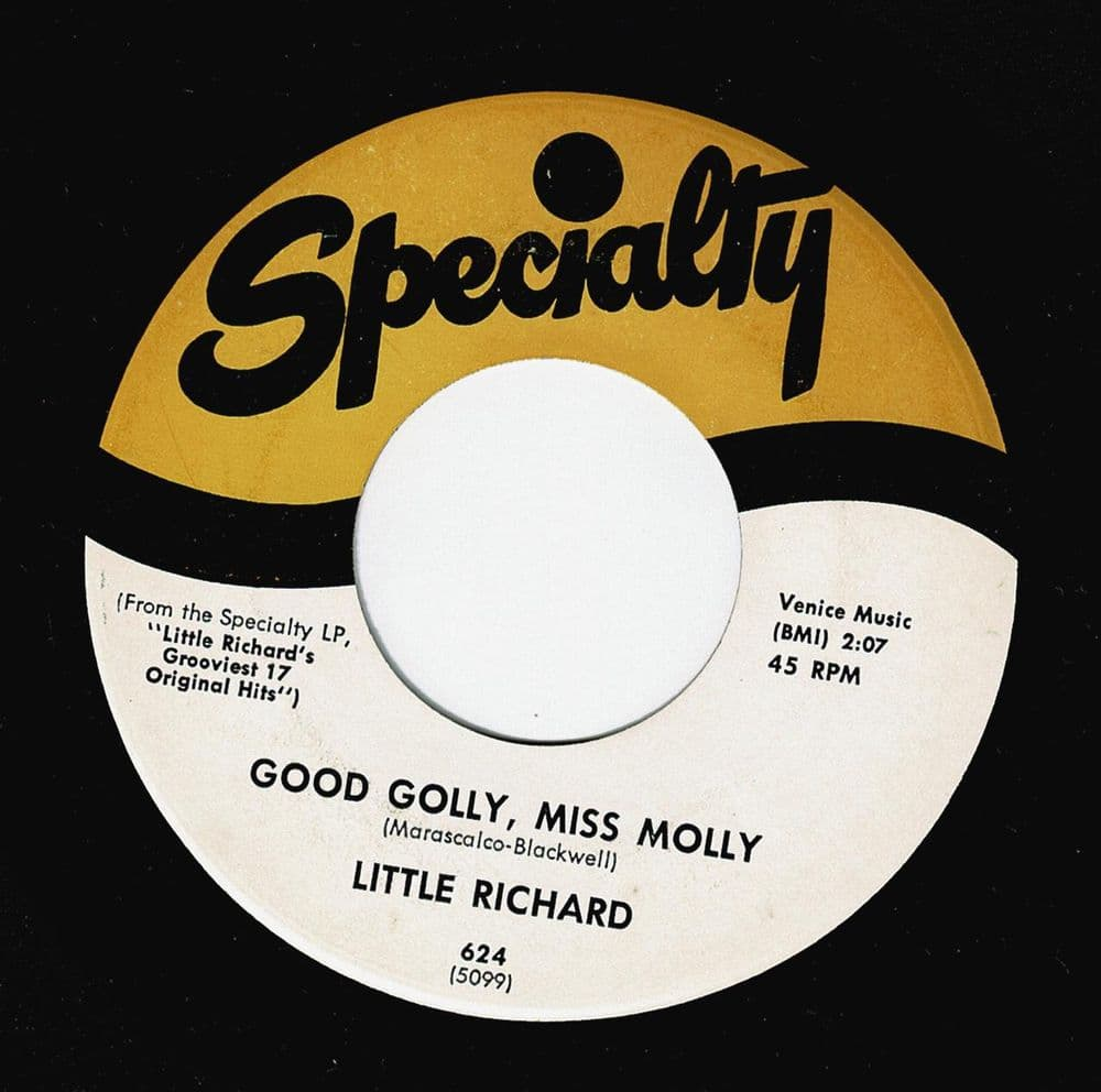 LITTLE RICHARD Good Golly, Miss Molly Vinyl Record 7 Inch US Specialty
