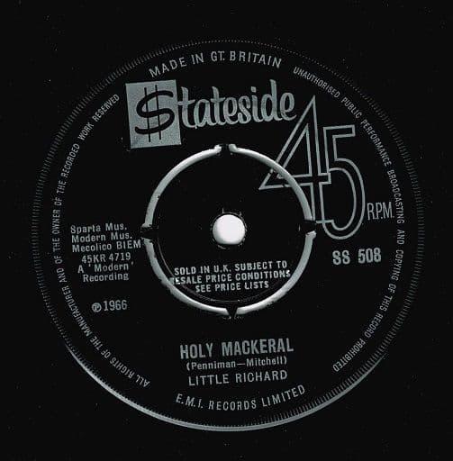 LITTLE RICHARD Holy Mackeral Vinyl Record 7 Inch Stateside 1966
