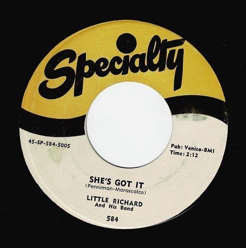 LITTLE RICHARD She's Got It Vinyl Record 7 Inch US Specialty