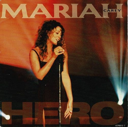 MARIAH CAREY Hero Vinyl Record 7 Inch Columbia 1993