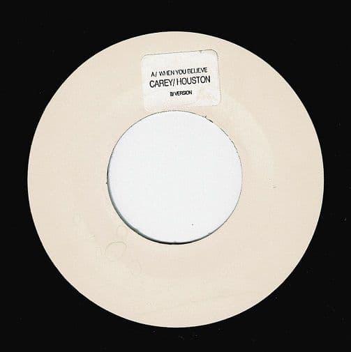 MARIAH CAREY & WHITNEY HOUSTON When You Believe Vinyl Record 7 Inch Columbia 1998 Promo