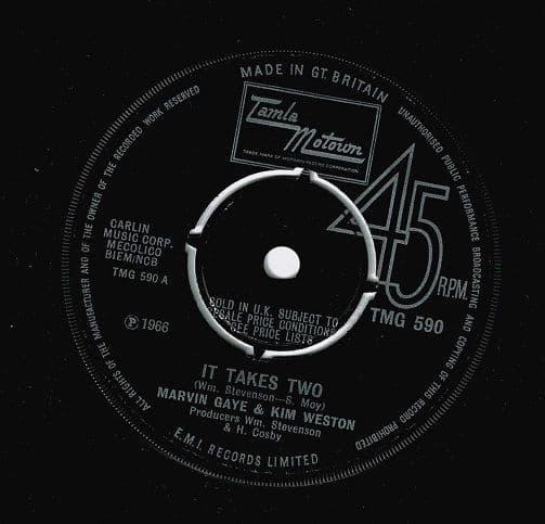 MARVIN GAYE AND KIM WESTON It Takes Two Vinyl Record 7 Inch Tamla Motown 1967