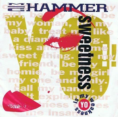 "MC HAMMER Yo! Sweetness 7"" Single Vinyl Record 45rpm Capitol 1991"