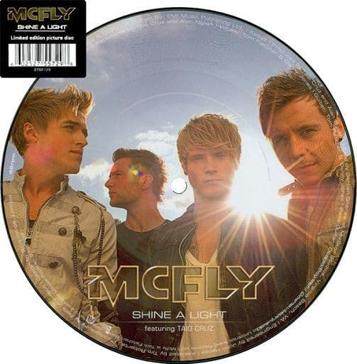 McFLY FEATURING TAIO CRUZ Shine A Light Vinyl Record 7 Inch Island 2010 Picture Disc