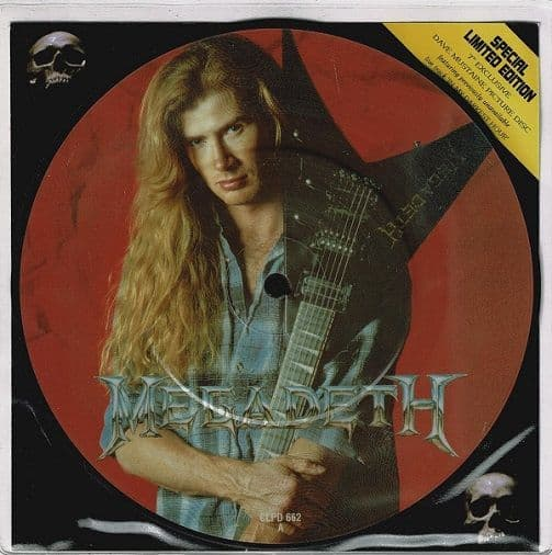 MEGADETH Symphony Of Destruction Vinyl Record 7 Inch Capitol 1992 Picture Disc