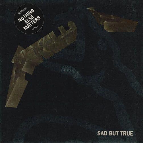 METALLICA Sad But True Vinyl Record 7 Inch Vertigo 1993