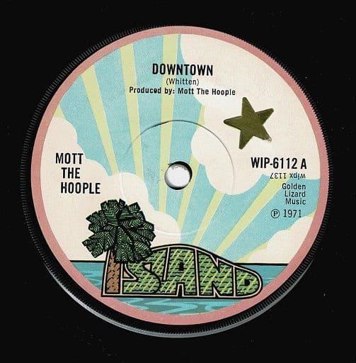 MOTT THE HOOPLE Downtown Vinyl Record 7 Inch Island 1971