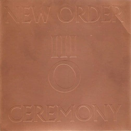 NEW ORDER Ceremony Vinyl Record 7 Inch Factory 1981